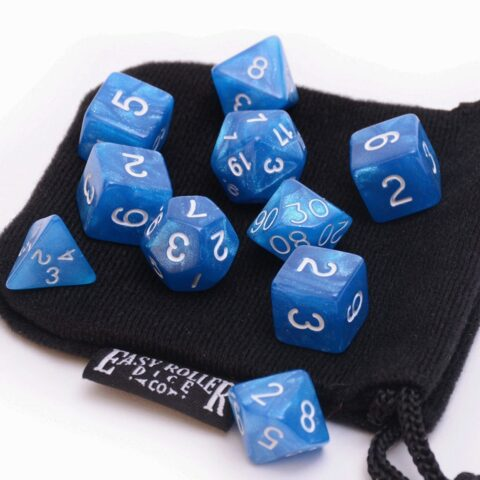 10 Piece Polyhedral Dice Set - Blue Frost