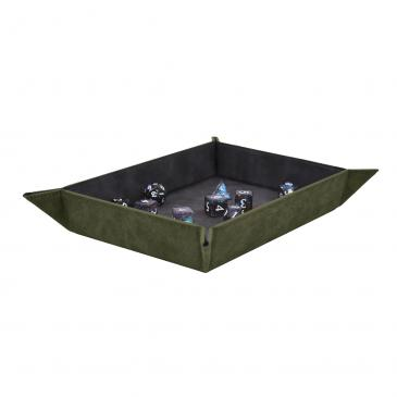 Suede Foldable Dice Tray - Emerald