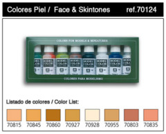 17ml Bottle Face & Skin Tones Model Color Paint Set (8 Colors)