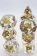 Gilded Butterfly Dice Set
