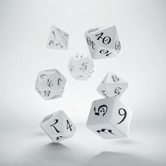 Classic RPG Dice Set White/Black (7)