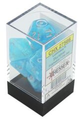 CHX27566 7 Luminary Sky/Silver Polyhedral Dice Set