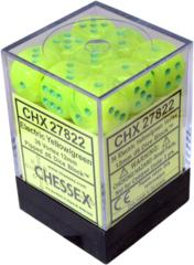 CHX27822 36 Vortex Electric Yellow w/green D6 Dice