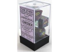 CHX27450 Festive Mosaic with Yellow 7ct Polyhedral Dice Set