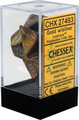CHX27493 Lustrous Gold / Silver 7 Dice Set