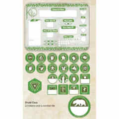 DUNGEONS AND DRAGONS TOKEN SET: DRUID (PLAYER BOARD AND 22 TOKENS)