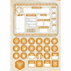 DUNGEONS AND DRAGONS TOKEN SET: MONK (PLAYER BOARD AND 22 TOKENS)