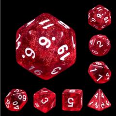 7 piece dice set - Rabbit's Eye