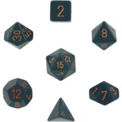 CHX25420 Opaque Dark Grey / Copper 7 Dice Set