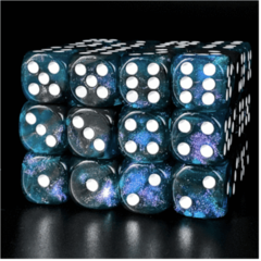 12 Piece Pip D6 Set - Galactic Glitter