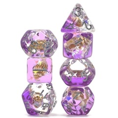 Purple Beach Conch Shell Dice Set