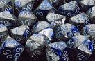 CHX26423 Gemini Polyhedral Blue-Steel / White 7 Dice Set