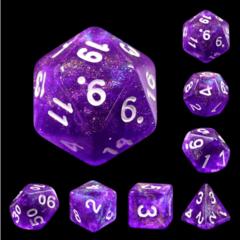 7 piece dice set - Electric Vibes