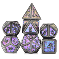 7 Piece Metal Dice Set - Color Shifting Night Sky