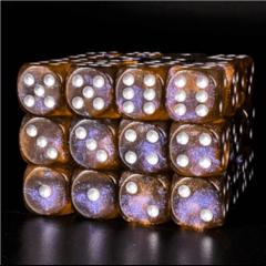 12 Piece Pip D6 Set - Ether Glitter