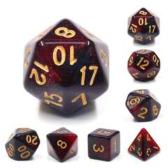 Bloody Mary 7 Piece RPG Dice Set