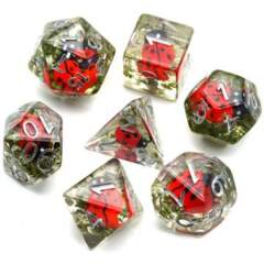 Red Ladybug  RPG Dice Set