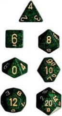 CHX25335 Golden Recon Speckled Polyhedral Dice Set of 7