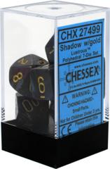 CHX27499 Lustrous Shadow / Gold 7 Dice Set