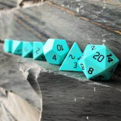 Norse Foundry Stone 7-Piece Dice Set - Turquoise