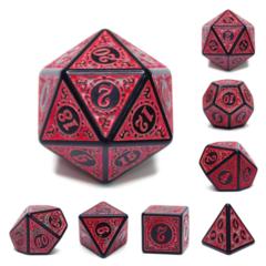 7 piece dice set - Magic Flame Red