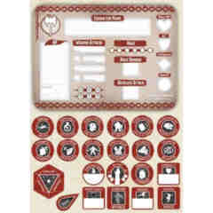 DUNGEONS AND DRAGONS TOKEN SET: BARBARIAN (PLAYER BOARD AND 22 TOKENS)