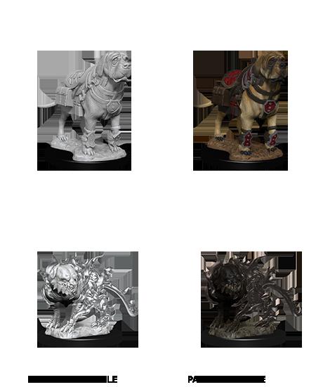 D&D Nolzurs Marvelous Miniatures: Mastiff & Shadow Mastiff