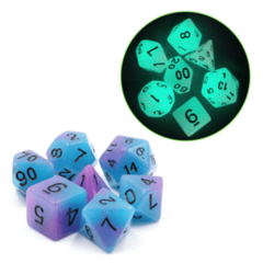Glow in the Dark Supernova RPG Dice Set