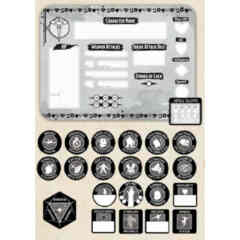 DUNGEONS AND DRAGONS TOKEN SET: ROGUE (PLAYER BOARD AND 22 TOKENS)