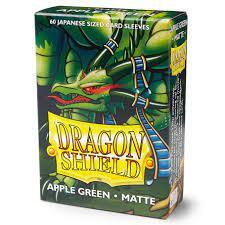 Dragon Shield Japanese Sized Card Sleeves (60 Ct)- Matte Apple Green