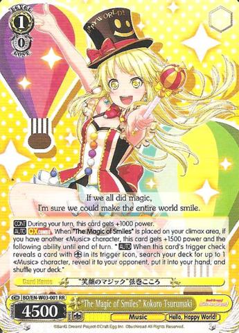 BD/EN-W03-001 RR The Magic of Smiles Kokoro Tsurumaki