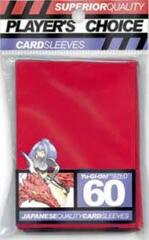 Player's Choice Mini Card Sleeves (60 ct) - Red