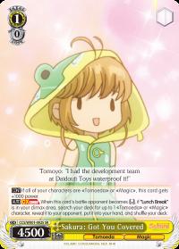 CCS/WX01-002S SR Sakura: Got You Covered