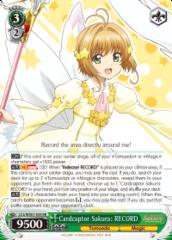 CCS/WX01-034 RR  Cardcaptor Sakura: RECORD