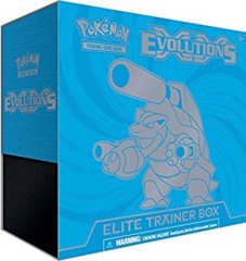 XY Evolutions Elite Trainer Box BLUE