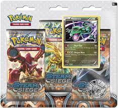 XY Steam Siege 3-Pack Blister with Rayquaza