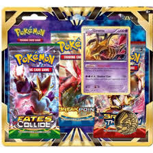 XY 3-Pack Blister with Giratina (1x Fates Collide, 1x Break Point, 1x Breakthrough)