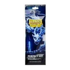 DRAGON SHIELD: CLEAR PERFECT FIT - JAPANESE SIZE SEALABLE INNER SLEEVES (100CT)