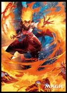 MAGIC: The Gathering Players Card Sleeve WAR of the Spark Chandra, Fire Artisan MTGS-101