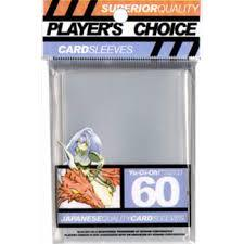 Player's Choice Mini Card Sleeve (60 ct) - Clear