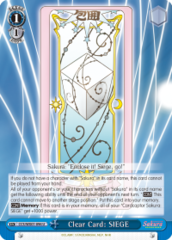 CCS/WX01-096 U  Clear Card: SIEGE