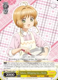 CCS/WX01-006 R  Sakura: Whipping Up a Storm