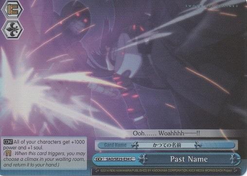 SAO//SE23-E34 Foil 1x Near Mint Weiss Schwarz Past Name C