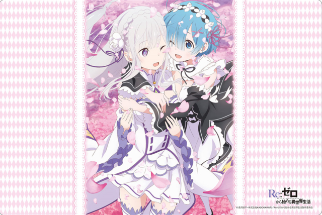 Bushiroad Rubber Mat Collection Vol. 158 Re:Zero kara Hajimeru Isekai Seikatsu Emilia & Rem