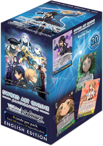 Sword Art Online Alicization Booster Box (ENGLISH) -Preorder
