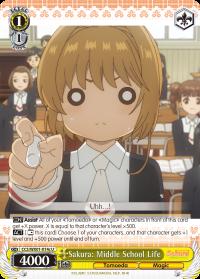 CCS/WX01-014c U  Sakura: Middle School Life