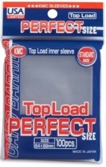 KMC Perfect Fit Clear Sleeves (100 pcs) (for Standard cards)