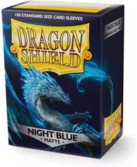 Dragon Shield Standard Card Sleeves (Box of 100) - Matte Night Blue