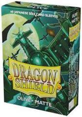 Dragon Shield Japanese Sized Card Sleeves (60 Ct)- Matte Olive