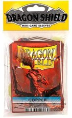 Dragon Shield Mini Card Sleeves (50 ct) - Copper